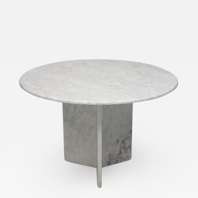White Carrara Marble Dining Table Italy 1970s