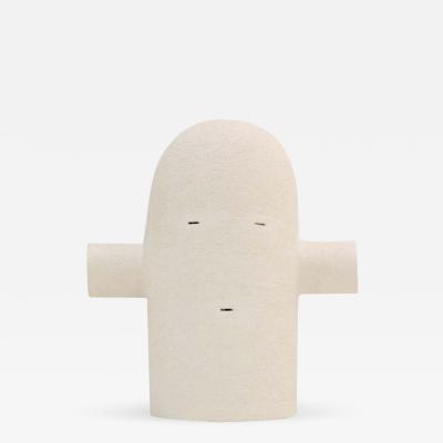 White Ceramic Totem Sculpture Moodiie Medium