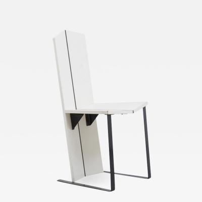 White De Stijl side chair Unknown Dutch 1950s