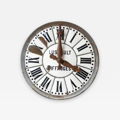 White Face Enamel Clock