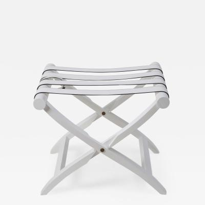 White Leather Luggage Rack