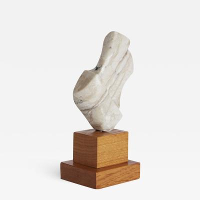 White Marble Oak Base Sculpture