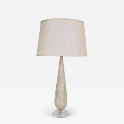 White Murano Glass Lamp