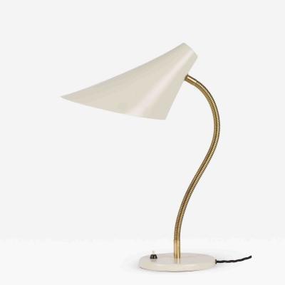 White Swiss Cone Table Lamp Wohnbedarf 50 s