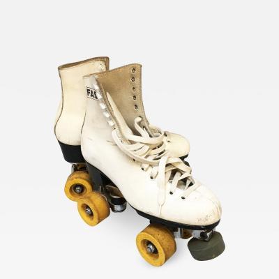 White leather roller skates 1980s