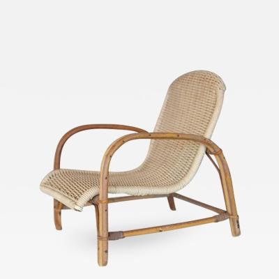 Wicker Lounge Chair Miniature Model