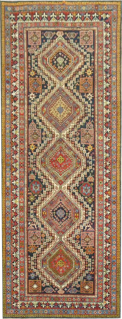 Wide Antique Shirvan Caucasian Runner rug no j1551