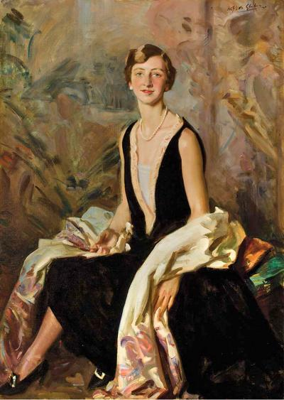 Wilfrid Gabriel De Glehn Portrait of a Lady Said to be Ruth Peck