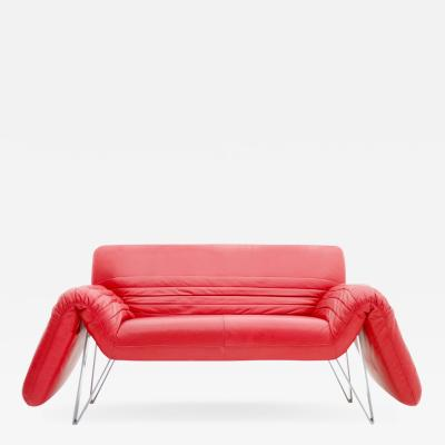 Wilfried Totzek Red De Sede Leather Sofa by Wilfried Totzek 1988