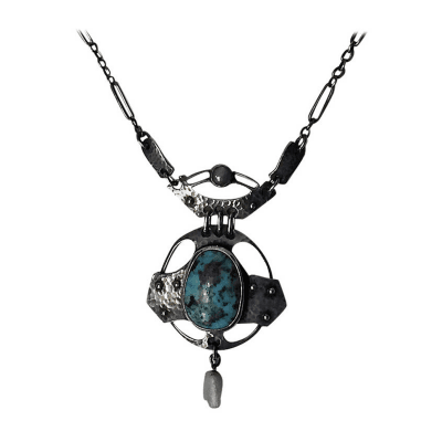 Wilhelm F hner Rare Wilhelm F hner Pforzheim Arts Crafts Necklace
