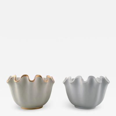Wilhelm K ge Carrara 2 ceramic vases