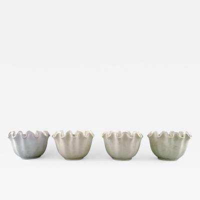 Wilhelm K ge Carrara 4 ceramic vases