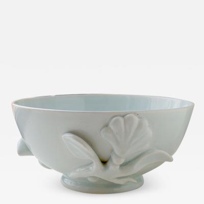 Wilhelm K ge Modern Classicism Bowl with Floral Motif by Wilhelm Kage