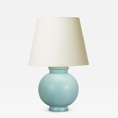 Wilhelm K ge Table lamp in soft celadon by Wilhelm K ge