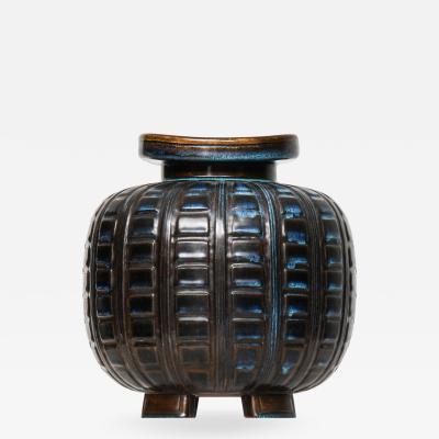Wilhelm K ge Vase Model Farsta Produced by Gustavsberg