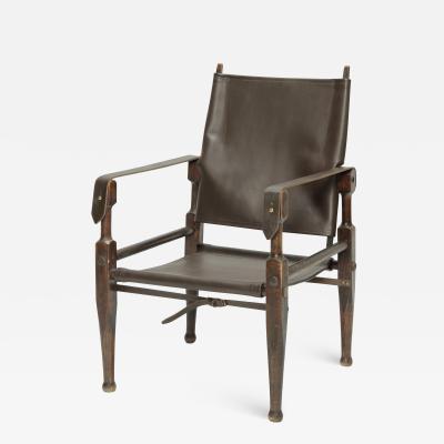 Wilhelm Kienzle Kienzle Safari Chair by Wohnbedarf with new Leather 50s