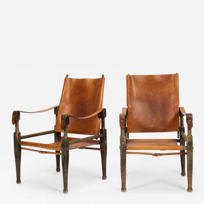 Wilhelm Kienzle Pair of Wilhelm Kienzle Safari Chair Wohnbedarf 50s