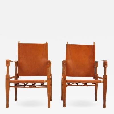Wilhelm Kienzle Rare pair of Wilhelm Kienzle Safari chairs