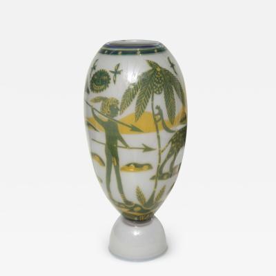 Wilke Adolfsson Swedish Studio Glass Vase by Wilke Adolfsson