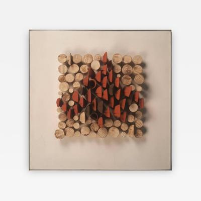Will Farrington Relique III Low Relief Abstract Ceramic Wall Sculpture by Will Farrington