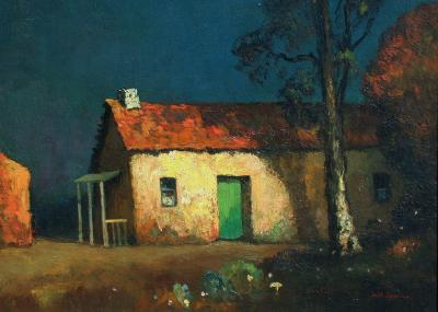 Will Sparks Spanish Adobe at Night