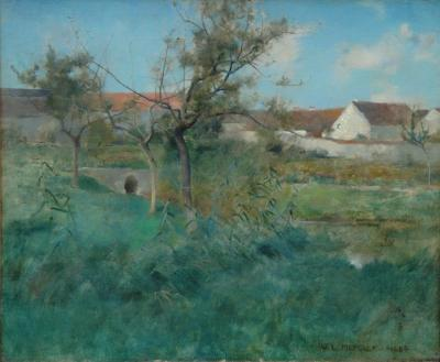 Willard Leroy Metcalf Landscape in Grez