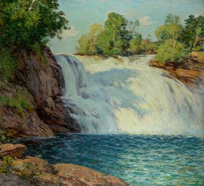 Willard Leroy Metcalf The Waterfall
