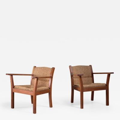 Willi Ohler Set of two Worpsweder armchairs by Willi Ohler Germany 1920s