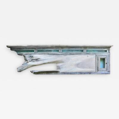 William Alburger 7ft Headboard Mantel Shelf Safe Wall Eco Sculpture Serenity
