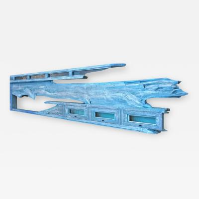 William Alburger Blue Yacht 8ft Bespoke Headboard Mantel Shelf Wall Eco Sculpture