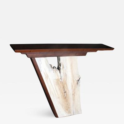 William Alburger Hall Table L 50 x 30 5 H x6 D Rescued walnut ash
