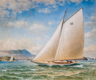 William Alexander Coulter John Barnesons WESTWARD Off Point Cavalla San Francisco
