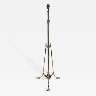 William Benson William Benson Gilt Bronze and Lacquer Floor Lamp Circa 1900 England