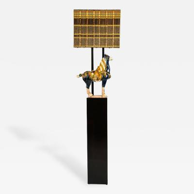 William Billy Haines Armature Floor Lamp with Horse by William Haines