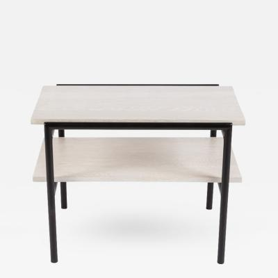 William Billy Haines Cerused Oak and Painted Metal Side Table by Billy Haines