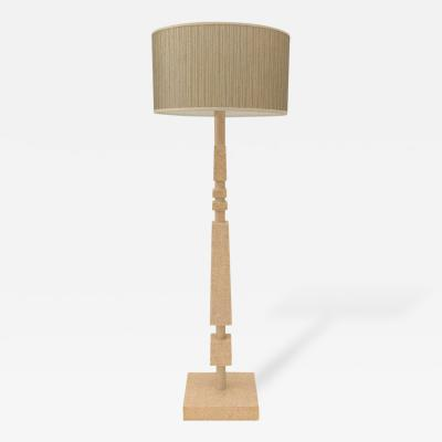 William Billy Haines Cork Veneered Floor Lamp by William Haines