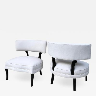 William Billy Haines Pair of Vintage Billy Haines Style Formal Club Chairs