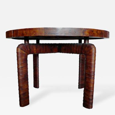 William Billy Haines William Billy Haines Custom Tortise Leather Game Table
