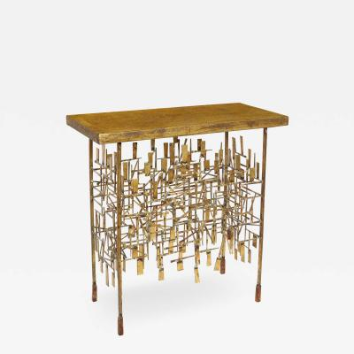 William Bowie A Unique Gilt Metal Console Table by William Bowie