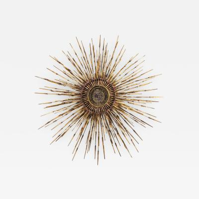 William Bowie American Post War Design Gilt Metal Wall Sunburst