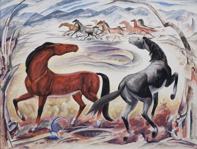William C Grauer Wild Horses