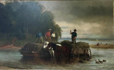 William Carl Wilhelm Hahn Gathering Sedge Shewsbury River New York