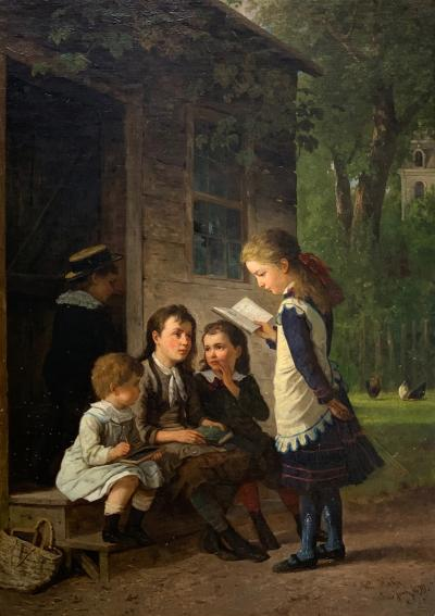 William Carl Wilhelm Hahn Oil Painting from 1879 by American artist William Hahn
