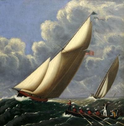 William Carr HENRIETTA VESTA and FLEETWING Great Transatlantic Ocean Race of 1866