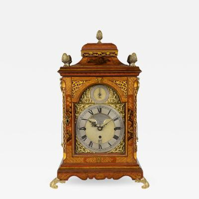 William Dunant WILLIAM DUNANT LONDON A fine George III red gilt lacquer musical table clock