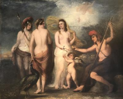 William Etty The Judgement of Paris A Large Oil Painting
