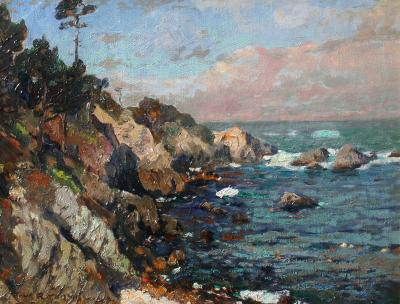 William F Ritschel A Sunny Day Monterey Coast