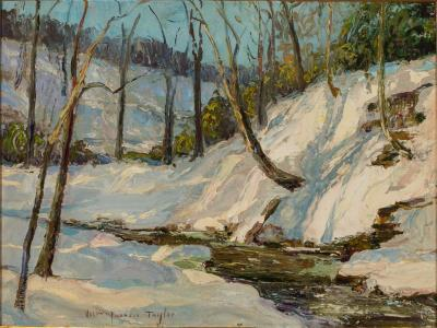 William Francis Taylor Cuttalossa Creek Winter