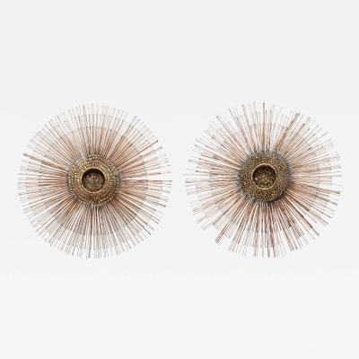 William Friedle A Matched Pair of Brutalist Sunburst by Bruce and William Friedle