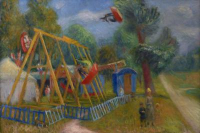 William Glackens French Fair Children s Swings